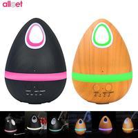 200ml USB Ultrasonic Aroma Air Humidifier Wood Grain Essential Oil Diffuser LED Light Cool Mist Maker