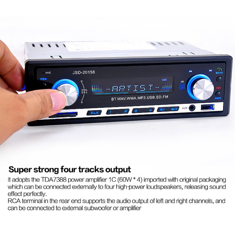 High Quality Car Radio Player Car MP3 Player Car Kit FM Radio Player Handsfree Bluetooth In-Dash Remote Control