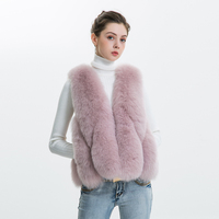 Women Real Fox Fur Vest 2018 Winter Waterdrop Sleeveless Coat Genuine Fox Fur Waistcoat New Fashion Lady Natural Fox Fur Vest