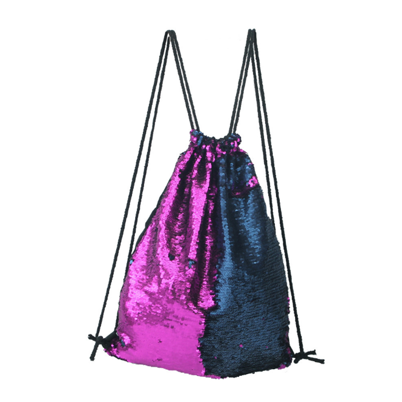 VEAMOR Shoulder Bags Girls Women Leisure Hiking Yoga Sports Picnic Mountaineer Travel Sequins Drawstring Backpack Storage WB1547