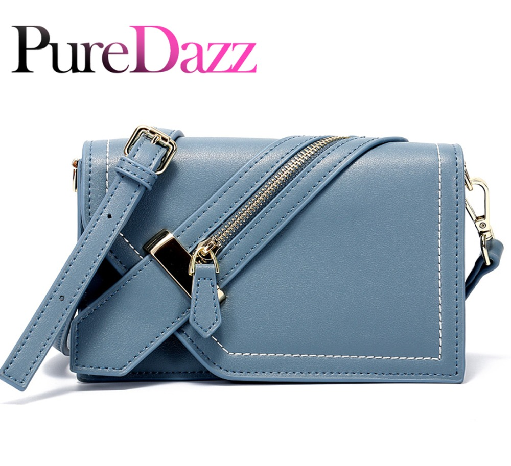2019 Cow Leather Women Shoulder Bag Casual Zip Bag Genuine Leather Lady Flap Crossbody Bag Luxury Brand Female Bag Messenger-in Top-Handle Bags from Luggage & Bags    1