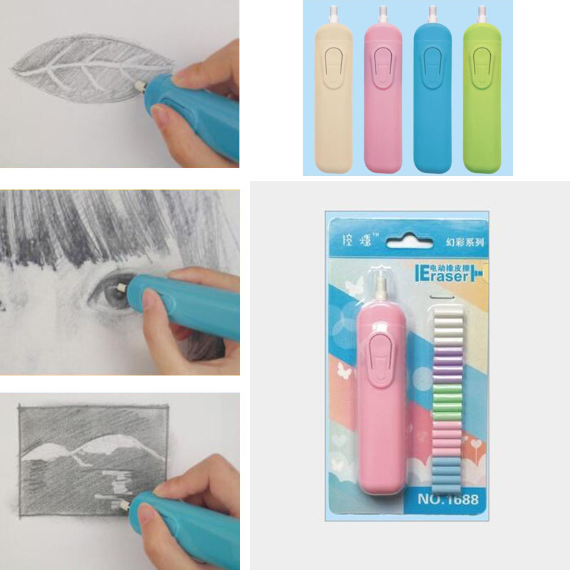 Eraser-Battery Stationery School-Supplies Derwent Electric Gift-Material Automatic Children's