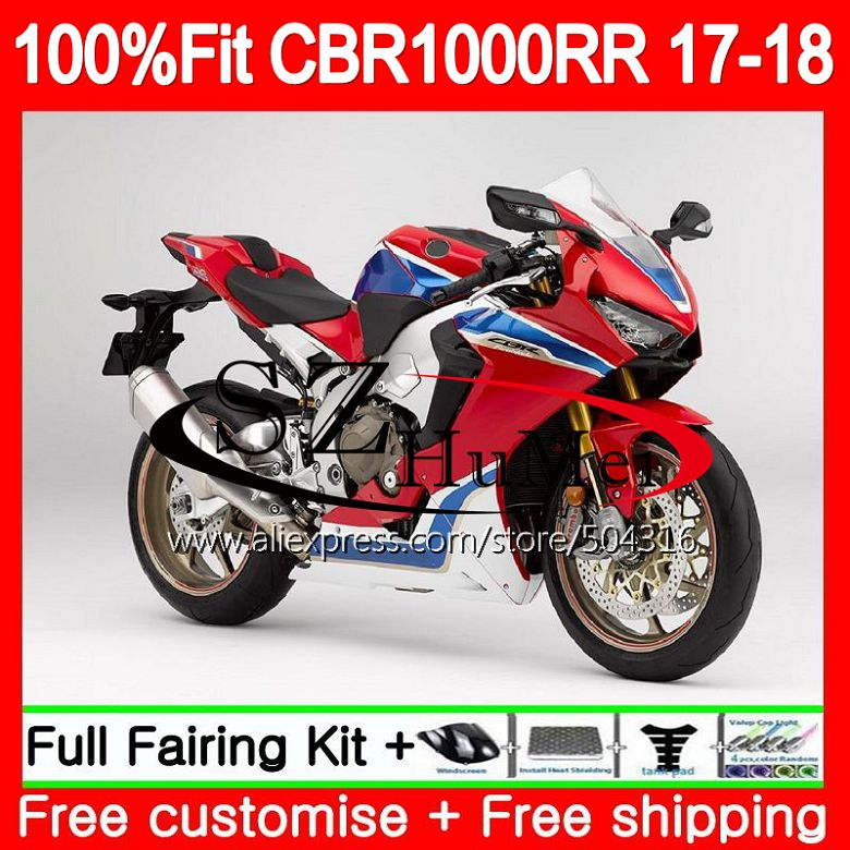 Kit d'injection + réservoir rouge pour HONDA CBR 1000 RR CBR1000RR 17 18 107SH. 10 CBR 1000RR CBR-1000RR CBR1000 RR 2017 2018 carénage