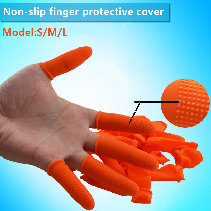 Finger Nail Set Fingertip Protective Sleeve Latex Non-Slip Antiskid Inspect Laboratory Labor Protection Durable Labour Thumb