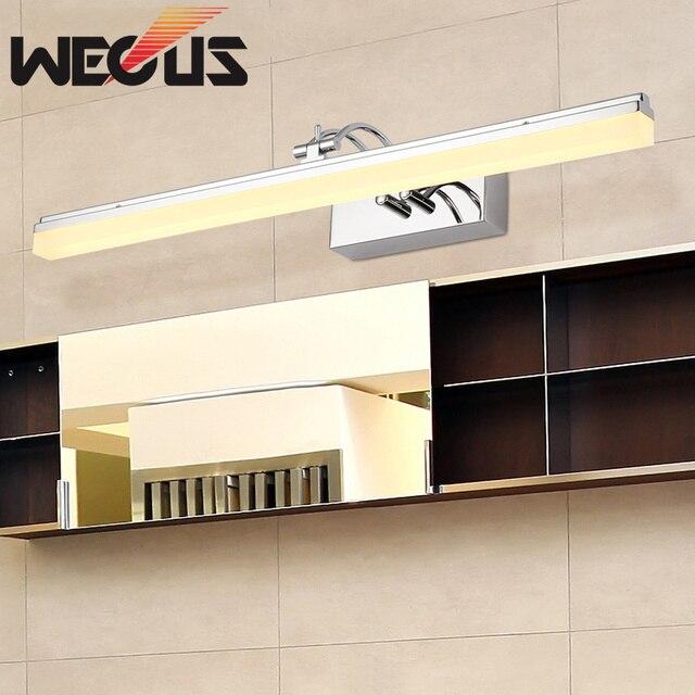 nieuwe acryl rockable spiegel licht 390mm led badkamermeubel lamp