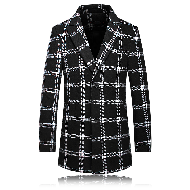 winter trench coat Men single Breasted Trench Coat Men Outerwear plaid Casual Coat Mens Jacket Windbreaker Men 5xl 4xl 3XL
