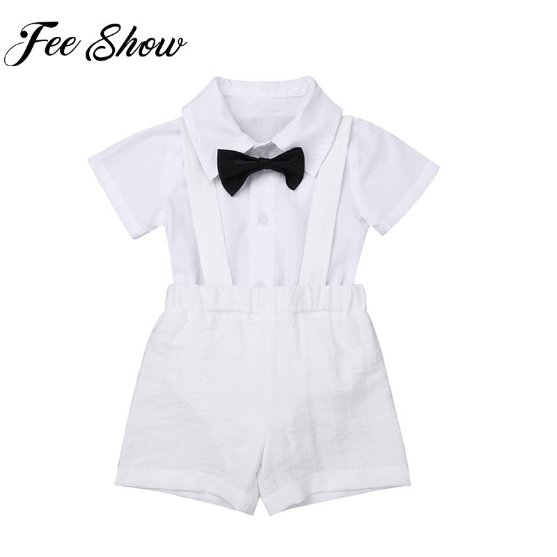 Baby Toddler Boys White 2 Pc Set Outfit Plaid Vest Christening Baptism Dedication