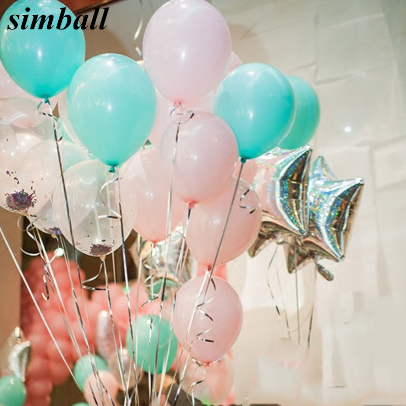 Tiffany Blue Pink Balloons 10pcs 22g Wedding Decorations Latex