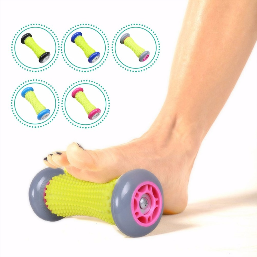 1pc Feet Massage Wheel Massager Roller Pain Relief Feet Acupoint Massager Blood Circulation Relaxation Tool Hands Feet Care hand massager ball roller finger rolling massage floating point acupoint blood circulation fitness health care stress relax