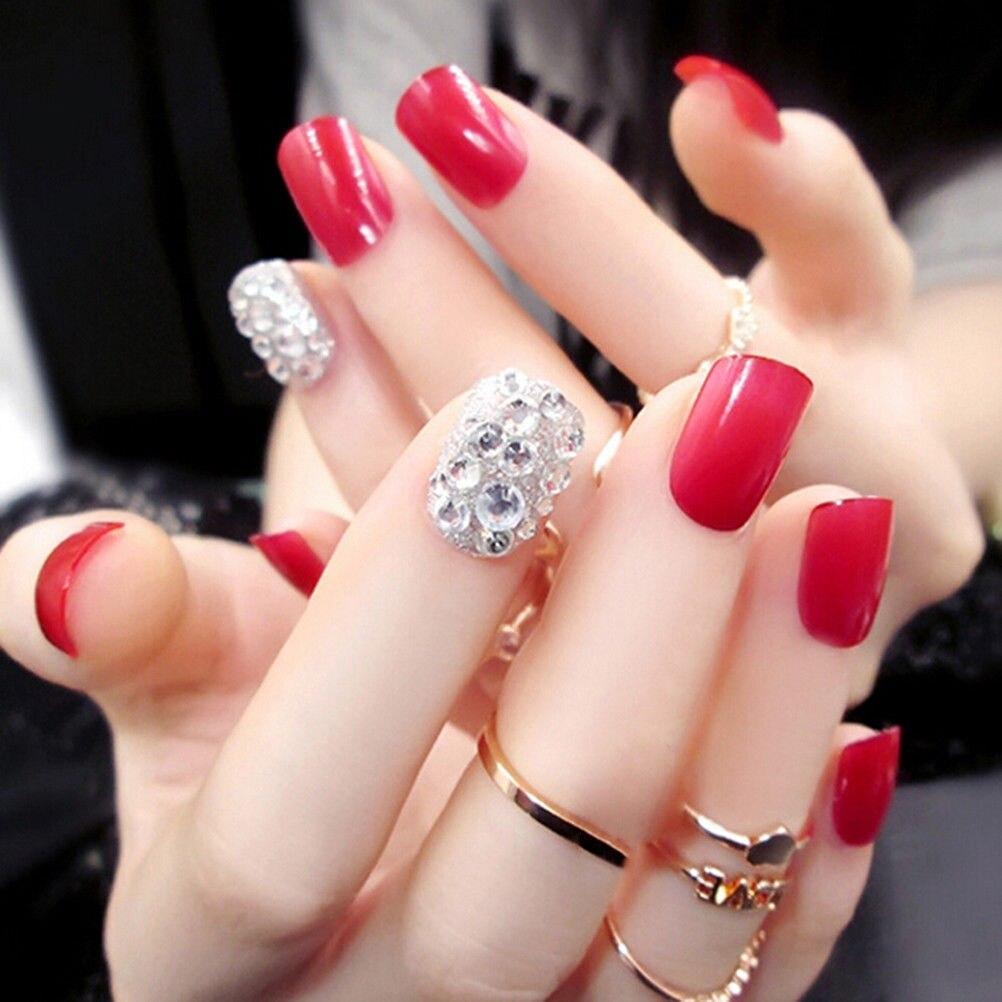 Manicure Nail Art: Nail Art Design Short Length Artificial Nails Extension