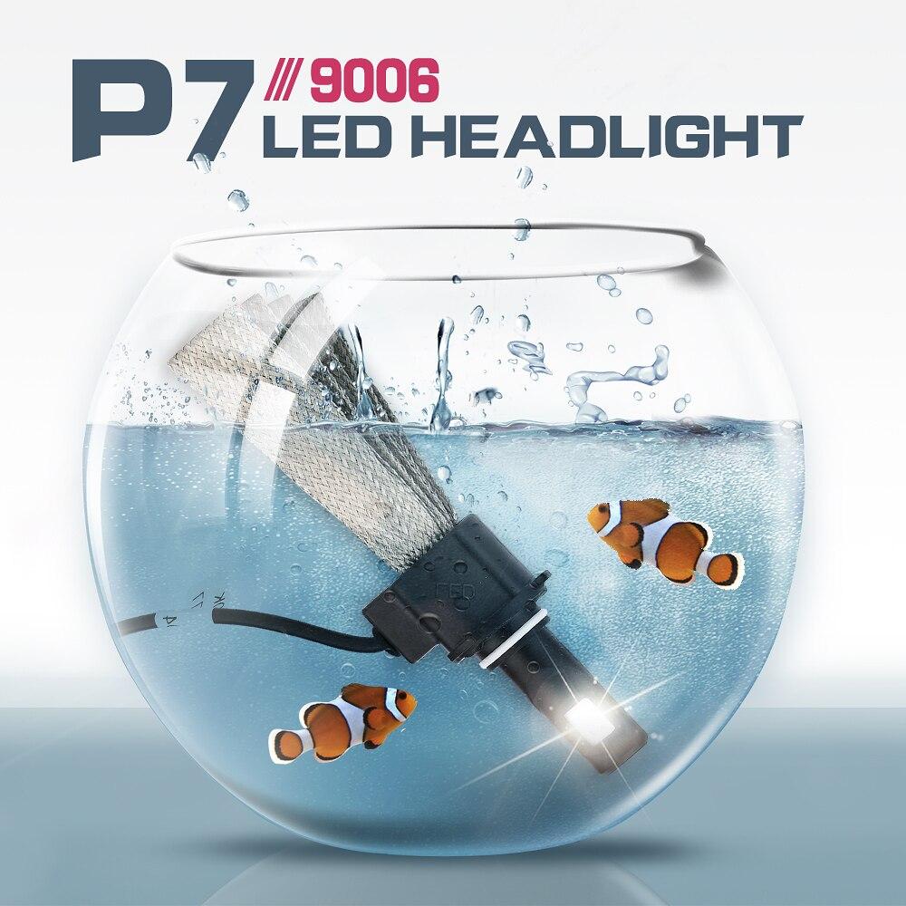 AROUSE 2pcs P7 9006 H3 H4 H7 H11 Car LED Headlight Braid Radiating 60W 12000LM CSP Auto Headlamp Bulbs H1 H13 HB3 Car Fog Lights in Car Headlight Bulbs LED from Automobiles Motorcycles