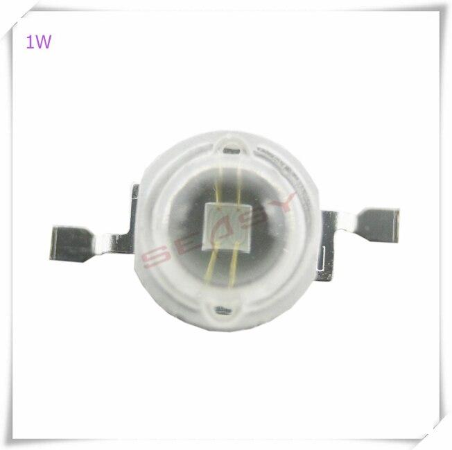 10pcs 1W UV 365nm-370nm LEDハイパワーLEDチップ(PCBボードは含まれません)