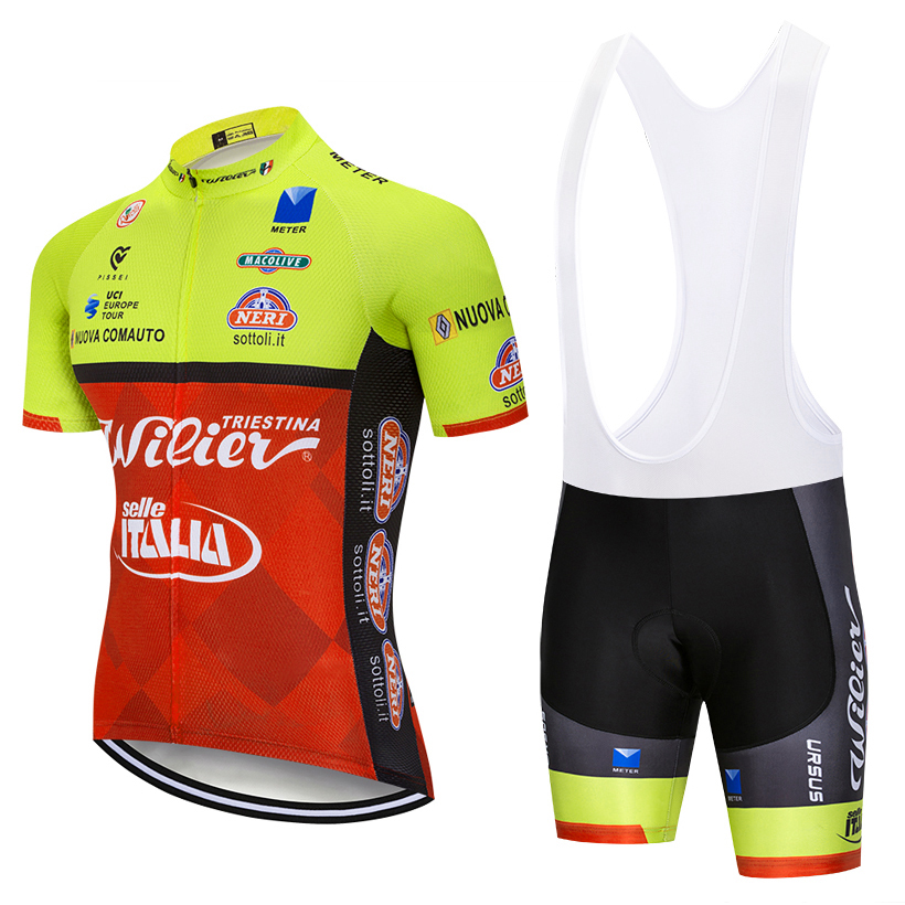 UCI team 2018 ITALIA cycling jersey Bike shorts set MTB mens summer ropa ciclismo cycling wear quick dry BICYCLE Maillot Culotte 2015 blue fdj team cycling jersey quick dry breathable cycling shirts bike shorts set gel pad cycle maillot culotte full