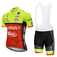 UCI Team 2018 ITALIA Cycling Jersey Bike Shorts Set MTB Mens Summer Ropa Ciclismo Cycling Wear