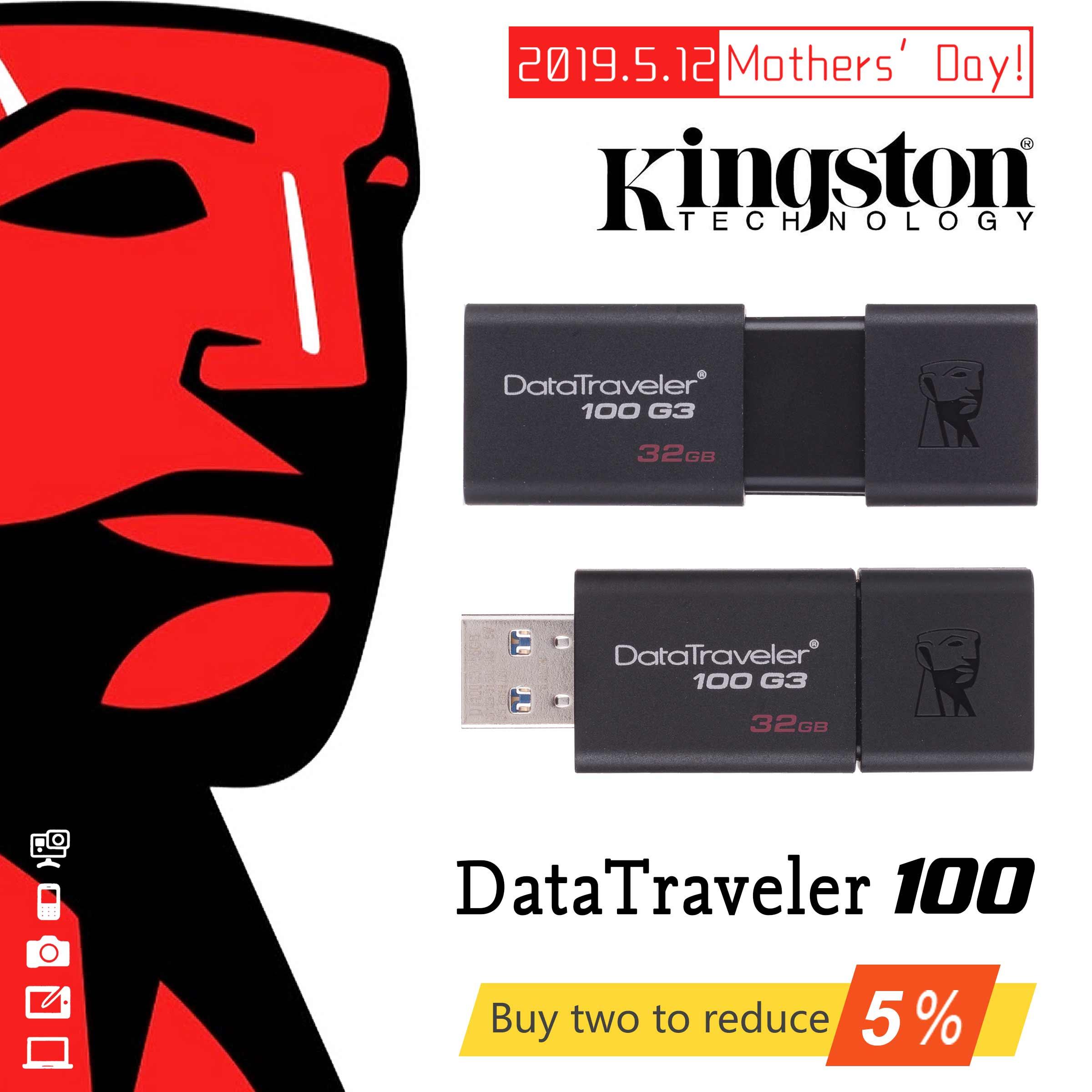 Original Kingston DataTraveler 100 G3 USB Flash Drives 16GB 32GB 64GB 128GB USB 3 0 Pen