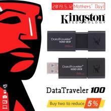 Оригинальный kingston DataTraveler 100 G3 USB 3,0 USB Flash Drive 32 ГБ, 64 ГБ и 128 ГБ USB накопитель U диск 32 64 128 GB DT100G3 флешки