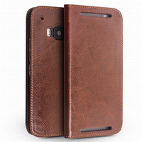 QIALINO Luxury High Quality Wallet Real Genuine Leather Case For HTC One M9 Leather Case With