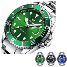 Green Mechanical Watches Men Top Brand Luxury Man Automatic Watch Male Clock With Date Calendar Montre Homme ailang date month display rose gold case mens watches top brand luxury automatic watch montre homme clock men casual watch 2018