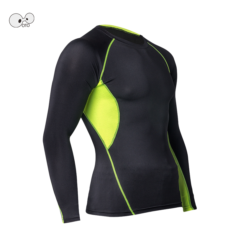 Tech Fleece Lined Long Sleeve Compression Shirt Men Thermal Gym Fitness Skin Tights Yoga Running Rashguard MMA MenS Sportswear