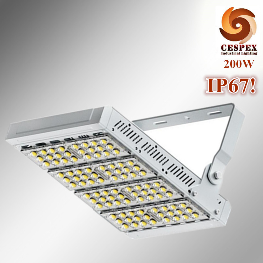 IP67 die cast aluminum alloy module AC100V 110V 220V 200W LED high mast tunnel stadium flood light fixture