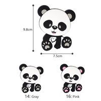Panda Silicoen Teether 10PCS Baby Teething Necklace Toys Accessories For DIY Pacifier chain pendant chews Beads BPA Free