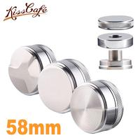 58mm Adjustable 304 Stainless Steel Coffee Espresso Tamper Silver Three Angled Slopes Base Flat/Thread Distribution Tools|Coffee Tampers| |  -