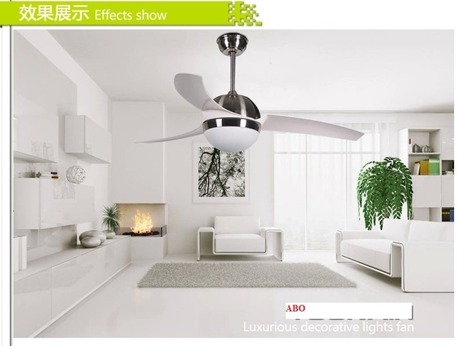 LED Fashion 42inch Simple Modern Lamp Fan Ceiling Living Room Light Dining