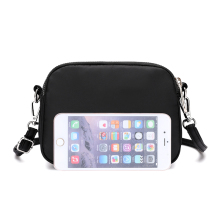 Lady Small Oxford Solid Waterproof Bags Women Daily Use Messenger Bag for Cellphone Young Girls Mini Mobile Phone Shoulder Bag