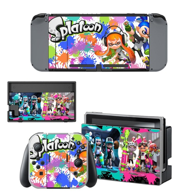 Splatoon Stickers Nintend Switch Skin Sticker Nintendoswitch Skins Decal for Nintendo Switch Console Joy-con Controller Dock