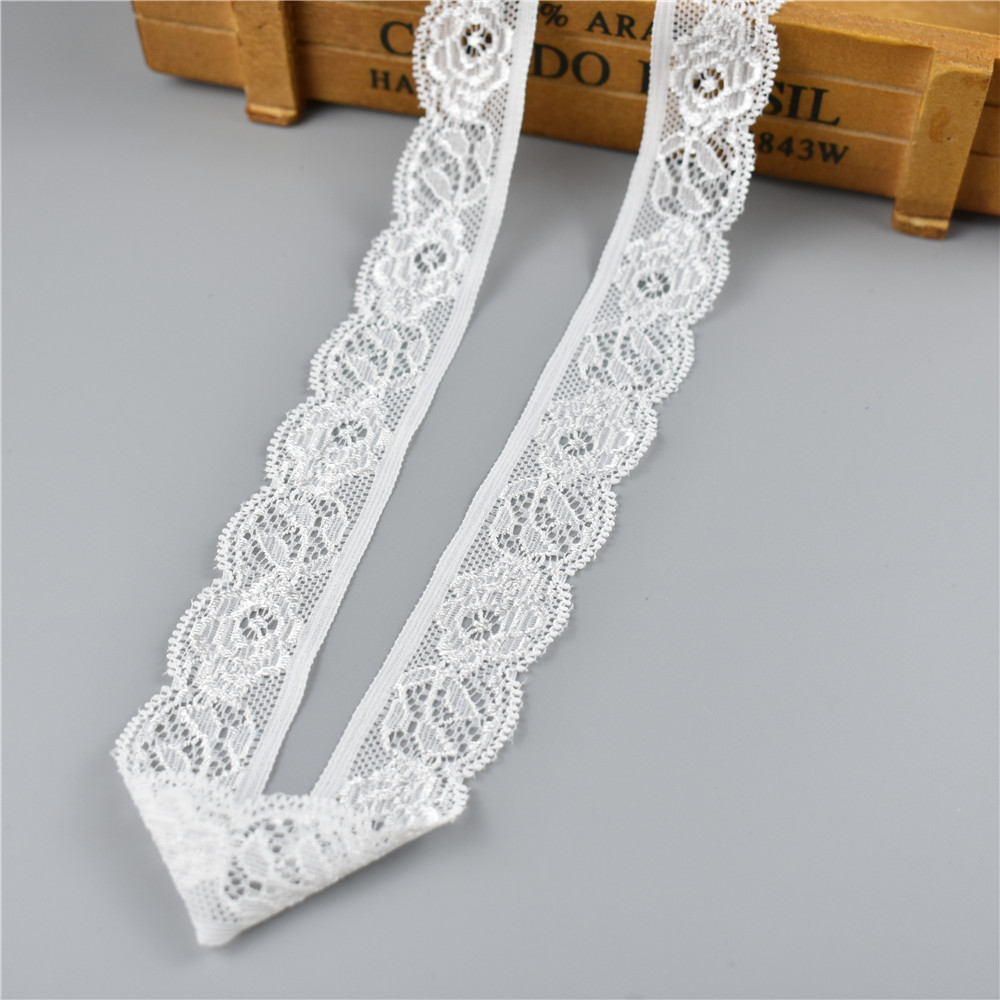 HTB1sV0Eqv1TBuNjy0Fjq6yjyXXav 5Yard/Lot High Quality White Elastic Lace Ribbon Trims Underwear Lace Trim Embroidered For Sewing Decoration african lace fabric