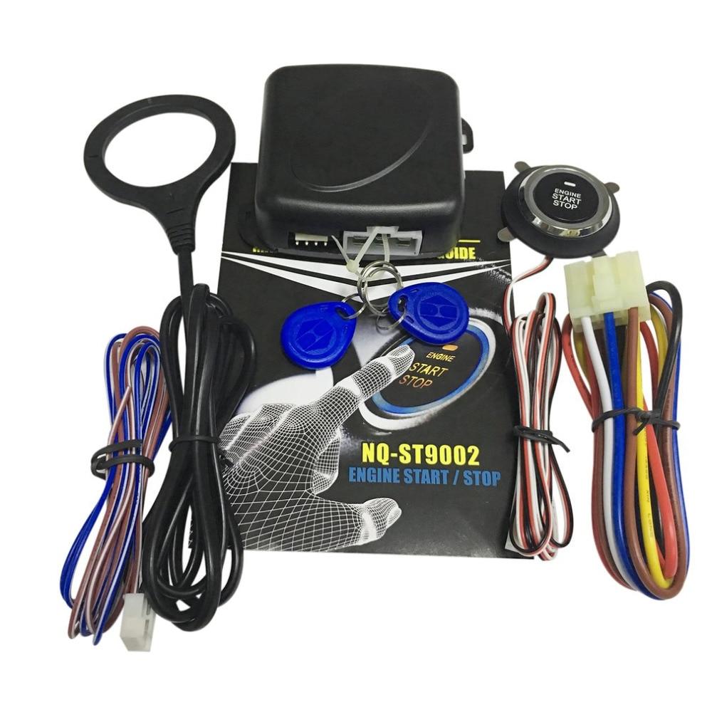 New Car Alarm Engine Push Button Start Stop RFID Lock Ignition Switch Keyless Entry System Starter Anti theft System Hot Selling|Burglar Alarm| |  - title=