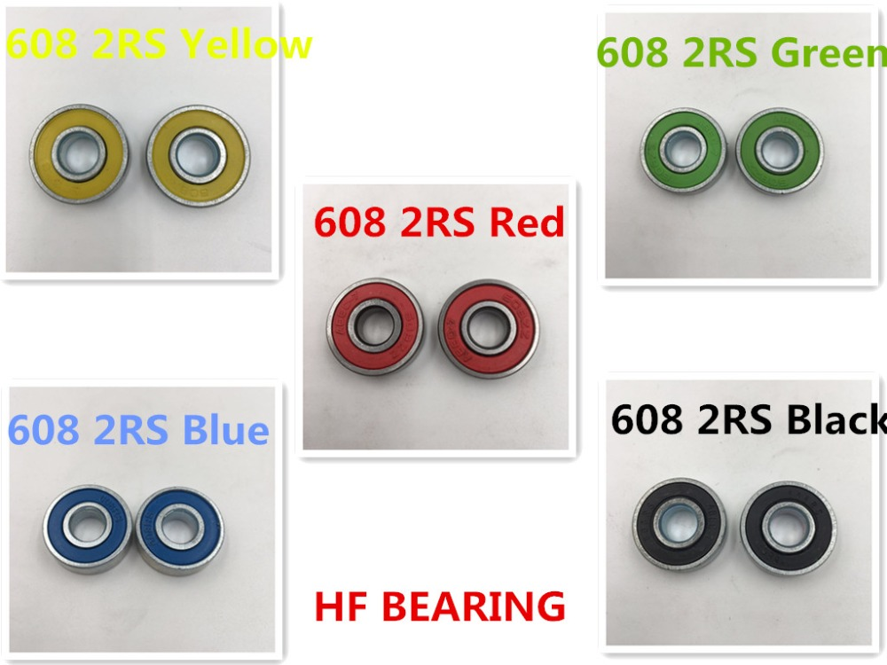 608RS Bearing 8*22*7 mm ABEC-7 Skateboard 608 2RS Ball Bearings Miniature 608-2RS 608 RS Bearing free shipping skateboard bearing 16pcs lot 608rs 608 2rs 608 ilq 9 pro bearings cover rubber seals