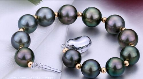 FREE SHIPPING HOT sell new Style >>>>charming 10-11mm genuine tahitian black red green pearl bracelet 7.5-8inch цена и фото