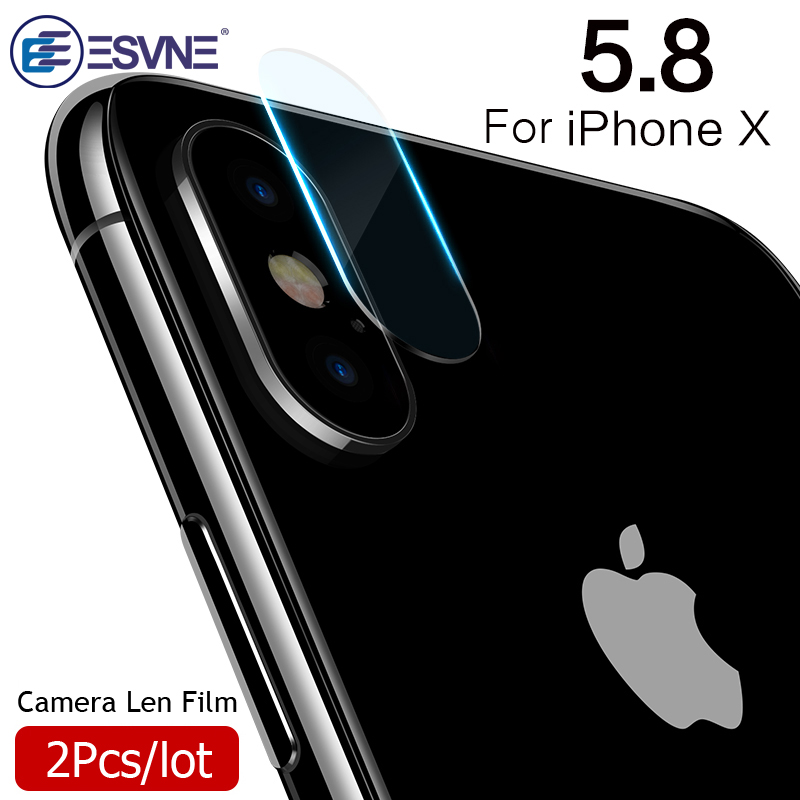 ESVNE 2.5D Camera Lens Tempered Glass fim for iphone X Camera Glass Screen Protector