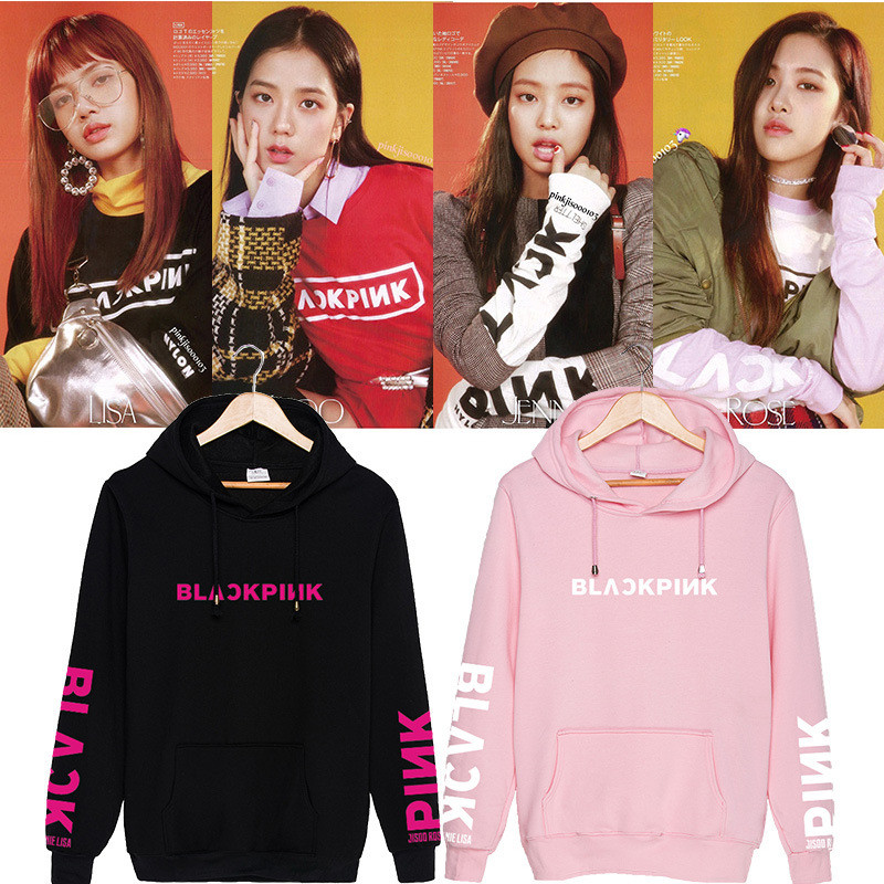 Quality Honest New Kpop Unisex Fashion Winter Hoodies Swirtshirts Blackpink Long Sleeve Hat Clothes Pullovers Sweatshirts Sudadera Mujer Excellent In