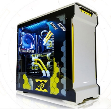 CPU i9 7900X RAM 32G SSD 500GB desktop computer pc With Water-cooling case box enclosure ヘッドスパ 用 シャンプー 台