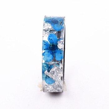 Handmade Flowers Wood Resin Ring18