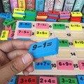 Candice guo деревянная игрушка-пазл Монтессори арифметическая сложение вычитание Игра домино цифровая Математика номер 1 Набор