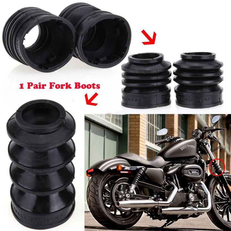 39mm Rubber Front Fork Shock Case for <font><b>Harley</b></font> Davidson <font><b>Iron</b></font> <font><b>883</b></font> XL883 XL1200 .2000-2014 image