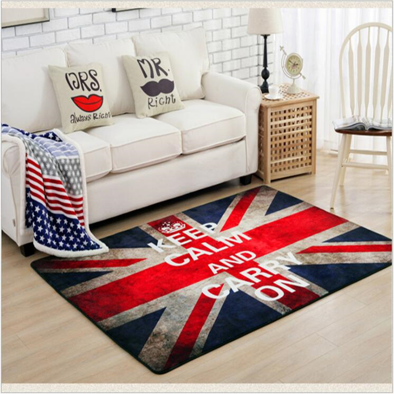 AOVOLL  Flag Carpets European Retro Coffee Table Bedroom Mat Floor Rugs Soft Carpet For Living Room Home Decoration|Carpet| |  - title=