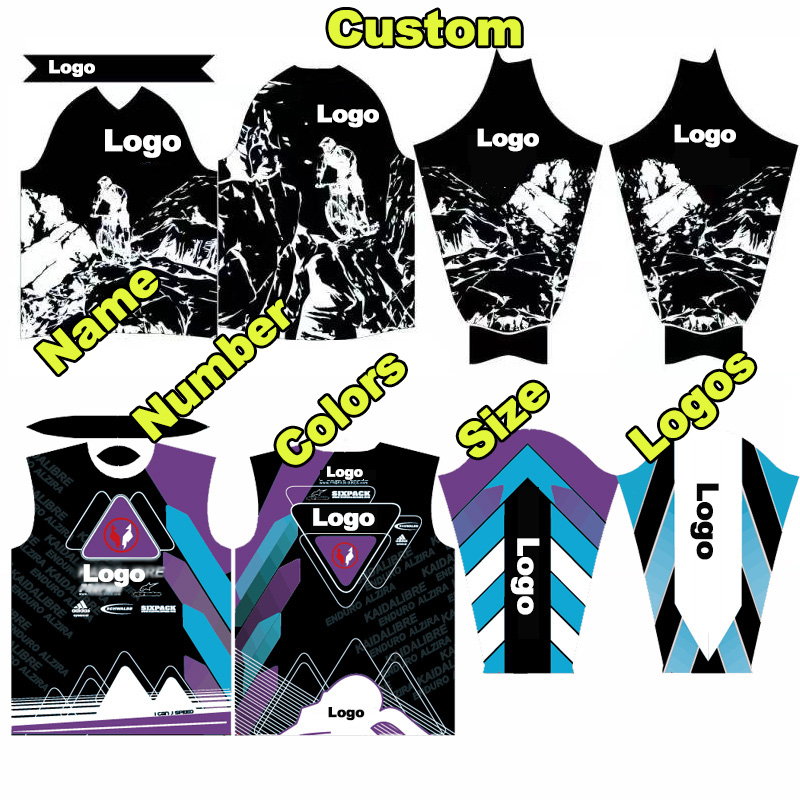 Custom Cycling Jersey Men MTB Downhill Mountain Bike Jerseys DH BMX  Motorcycle Jerseys Motocross T Shirts Cycling Clothing Ropas dd949f551