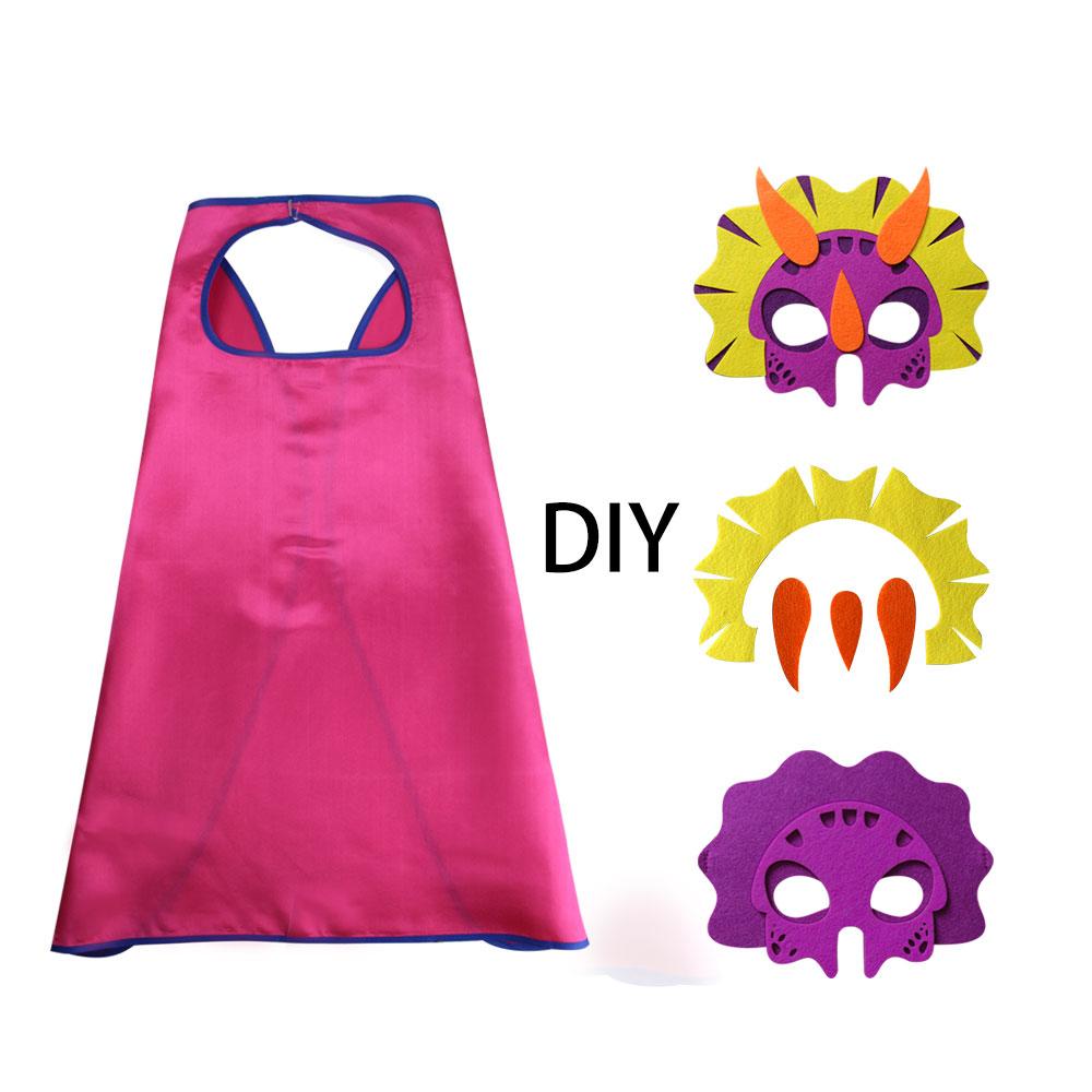 D.Q.Z Carnival Manual DIY trike maszk egyrétegű rózsaszín Cape - Jelmezek