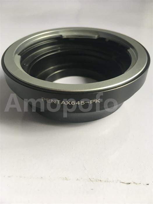 Amopofo P645-PK Adaptateur, Pour Penatx 645 Lens pour Pour Pentax PK K Mount Adapter K10D K-7 30 01 5 II K200D caméra