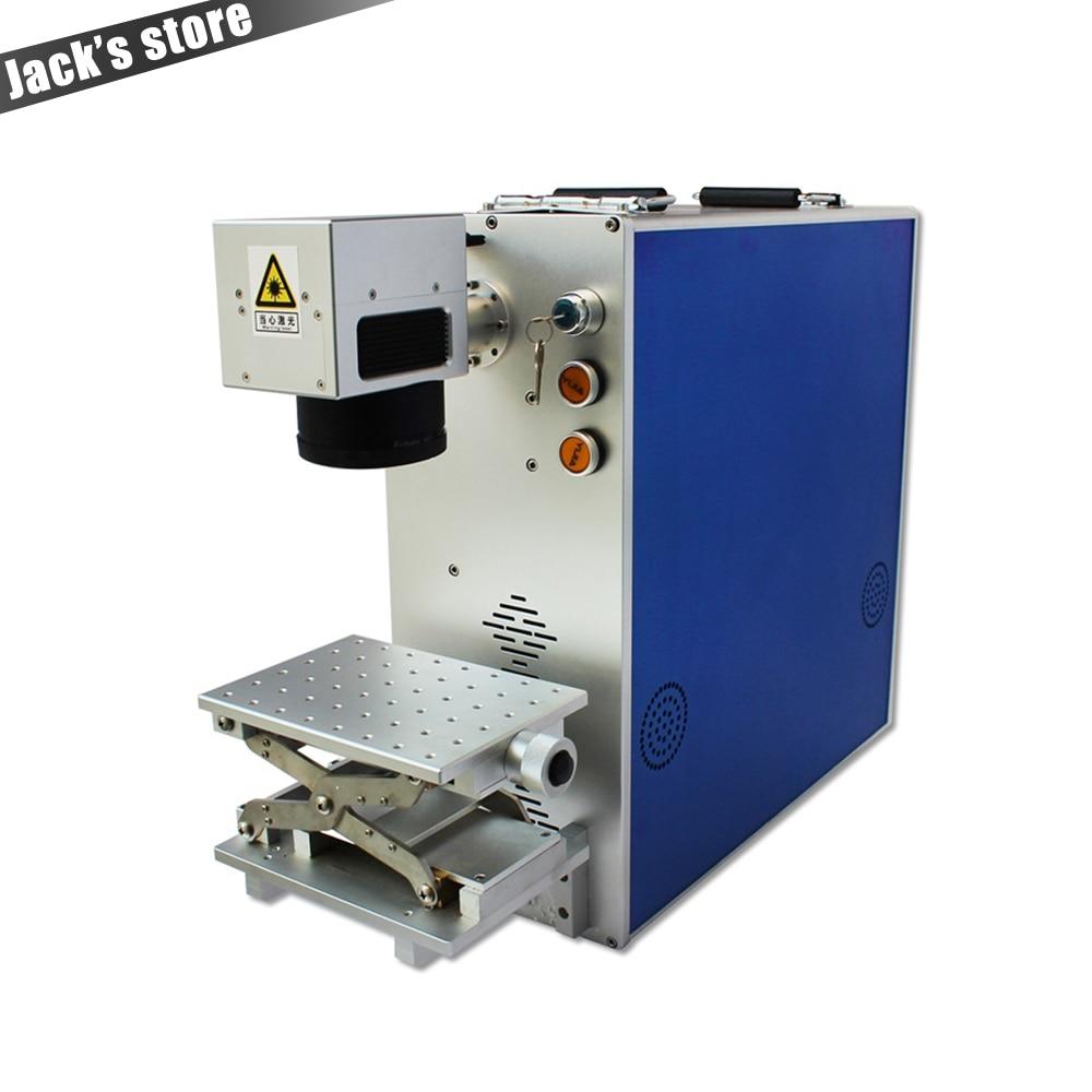 2018 Hot Sale Laser Marking Machine 20W Portable Metal Engraving Laser Cutting Machine Depth 0.3mm Desktop Home Laser Cutter