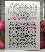 Buy A4 Floral Frame DIY Layering Stencils Wall Painting Scrapbook Coloring Embossing Album Decorative Paper Card Template directly from merchant!