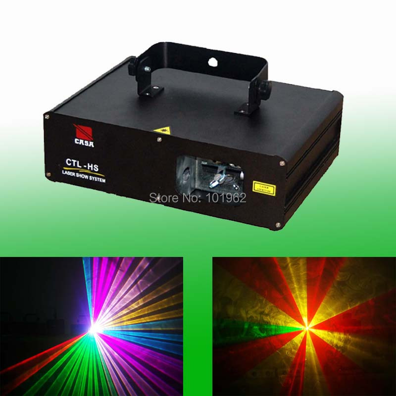 New sale Stage lights Full Color RGV 500mW DMX512 Stage Light DJ Light Disco light show