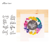 JC Clear Rubber Stamps for Scrapbooking Thanks Letter Words Sheet Silicone Seals Craft Stencil Album Paper Card Make Decoration
