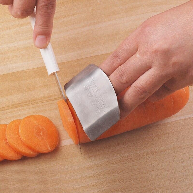 Cocina Debe Tener! Rebanada Segura Finger Protector de Acero inoxidable Accesori
