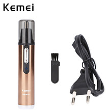 Kemei KM - 6619 Rechargeable Electric Washable Fashion Electric Shaving Nose Hair Trimmer Face Care Shaving Trimmer Nose Trimmer цены онлайн