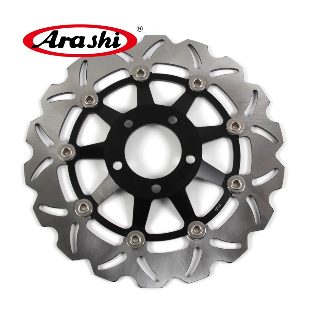 Arashi 1PCS For SUZUKI RG F GAMMA 125 1992 CNC Motorcycle Front Brake Disc Brake Rotors RGF125 RGF 125 VZ MARAUDER 800 96-04 arashi 1pcs cnc floating front brake disc brake rotors for cagiva mito 525 125 2006 2007 mito 125 1991 1992 1993 1994
